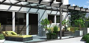 Terrassendächer Glaselemente